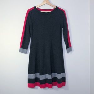 Vince Camuto Gray & Pink A-Line Sweater Dress - S